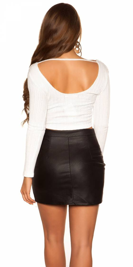 Crop Top Sexy manches longues