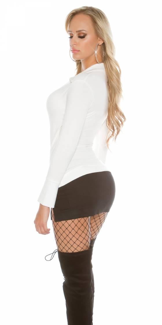 Robe de soirée sexy tendance avec ceinture CLARA couleur noir
