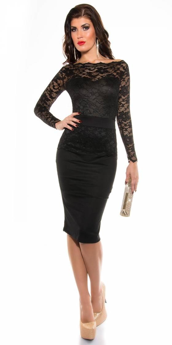Long pull femme sexy tendance LOUNA couleur noir