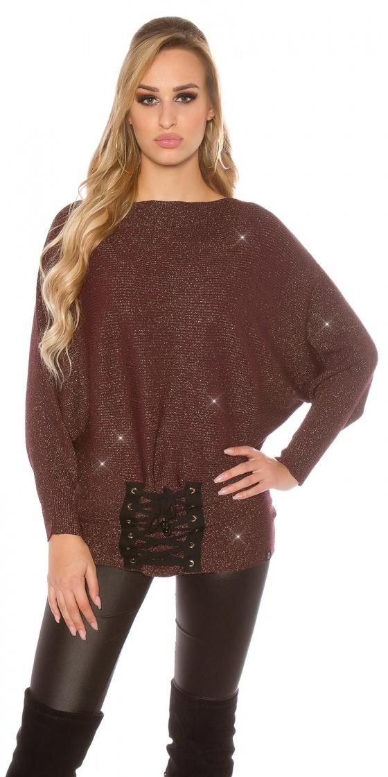 Top tendance fashion avec strass CALIA couleur rose
