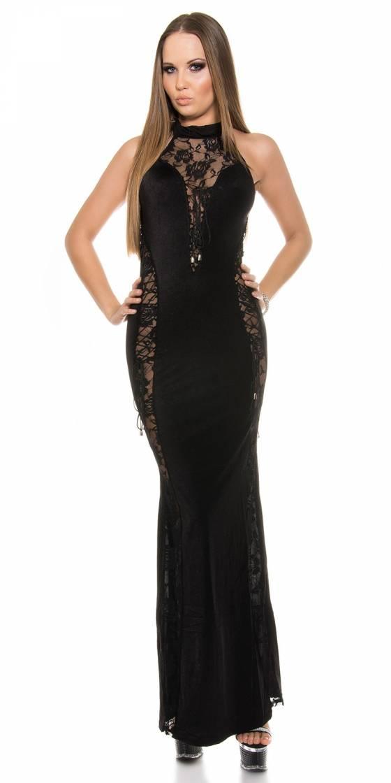 Long pull femme tendance fashion DENA couleur noir/beige