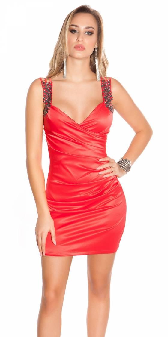 Chemise sexy tendance avec ceinture LARA couleur rouge