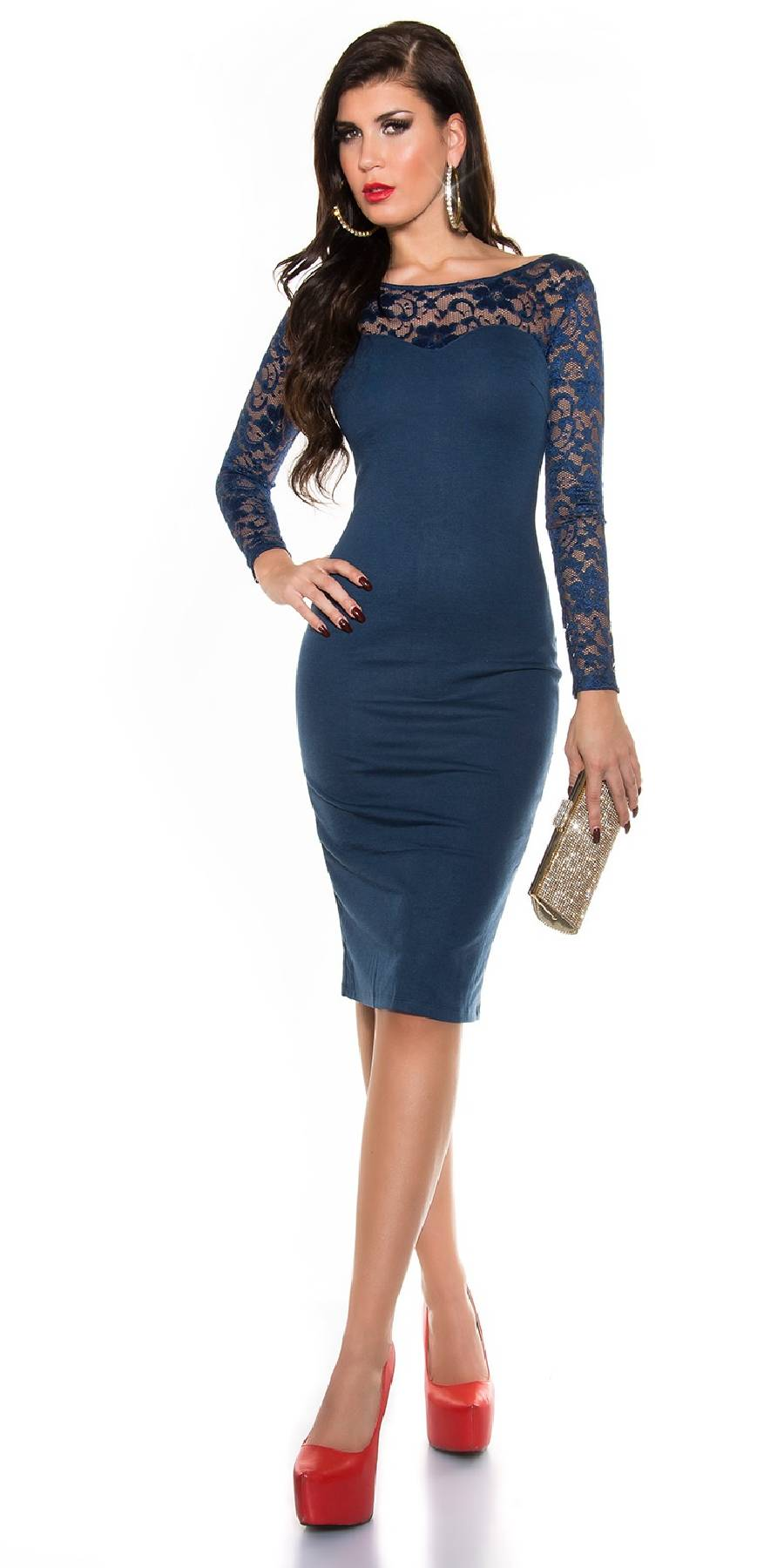 Collier tendance fashion ZOE couleur turquoise