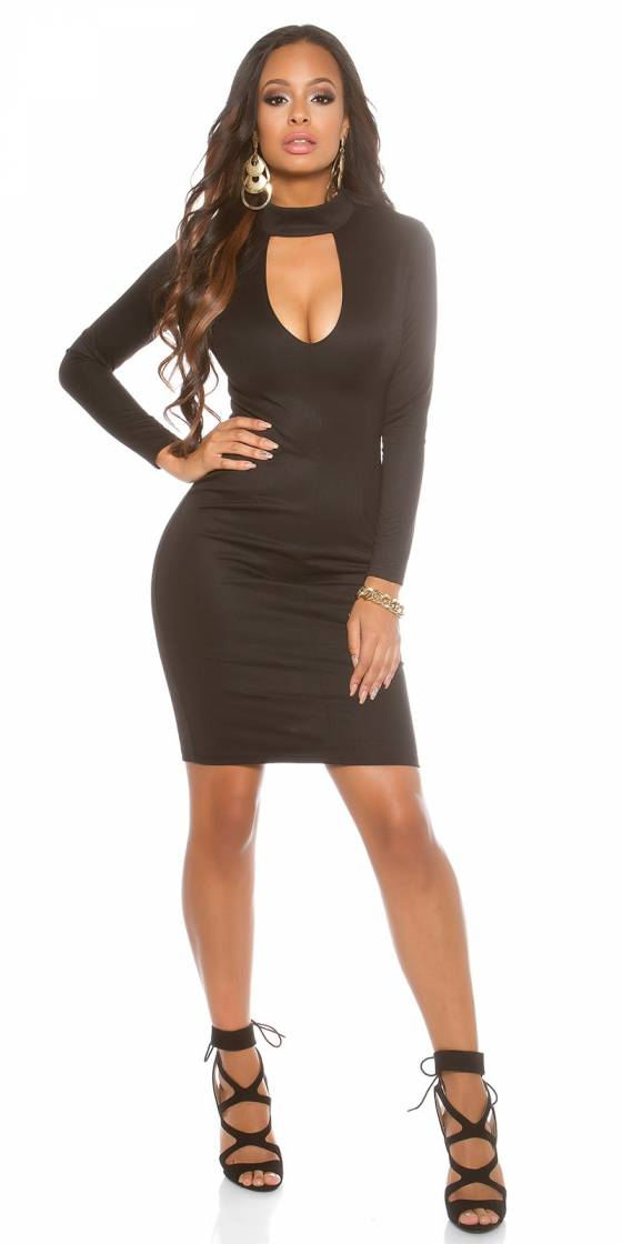 Robe fashion sexy AMELIE couleur cappuccino