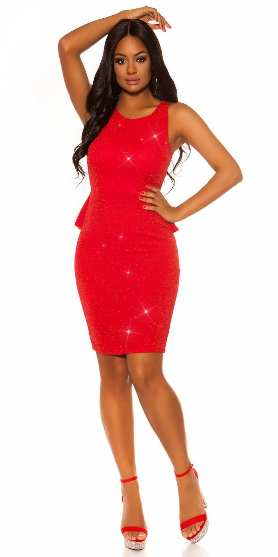 Jupe sexy ALINE avec ceinture couleur rouge