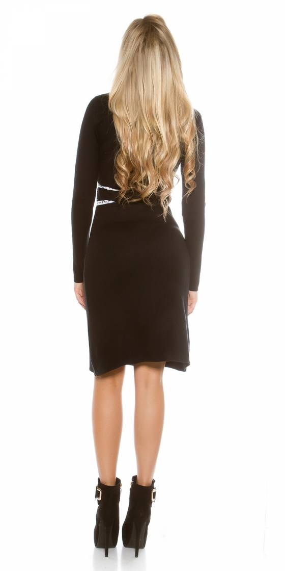 Robe En Maille Fine Sexy A Manches Longues