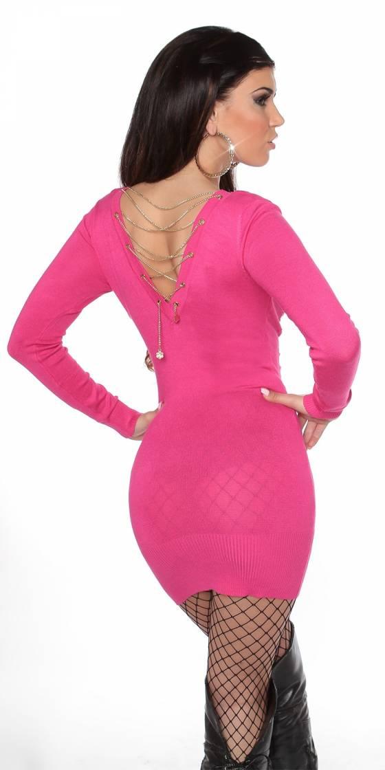 Robe femme fashion EMMA avec ceinture couleur saphir