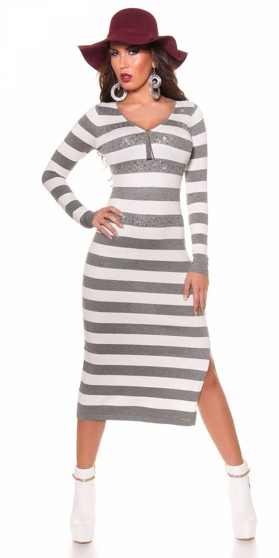 Trendy KouCla knitted dress...
