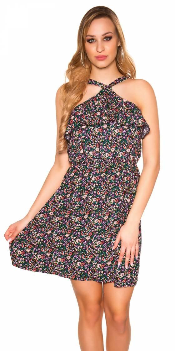 Sexy mini dress floral...
