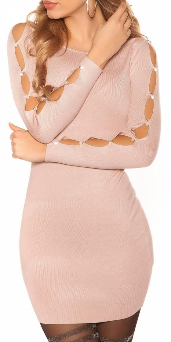 Sexy knit mini dress with...