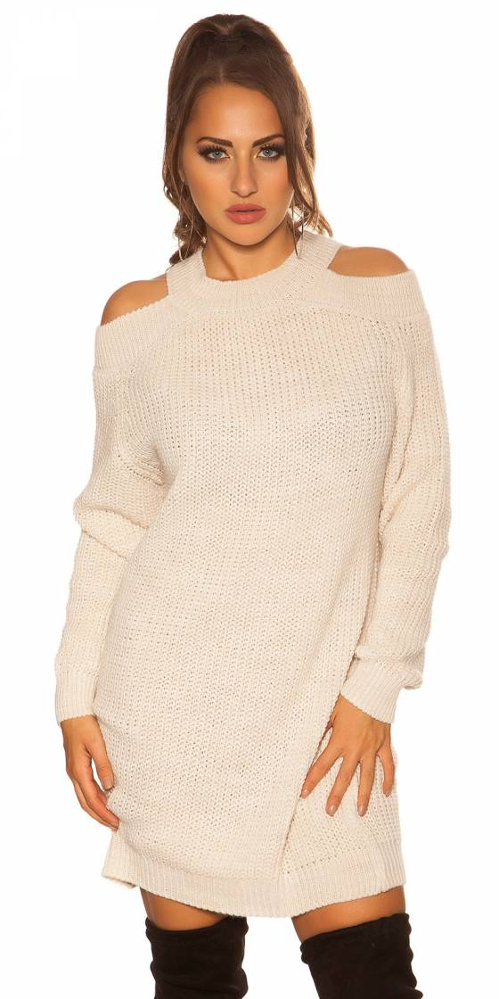 Robe tendance sexy MILANA couleur blanc