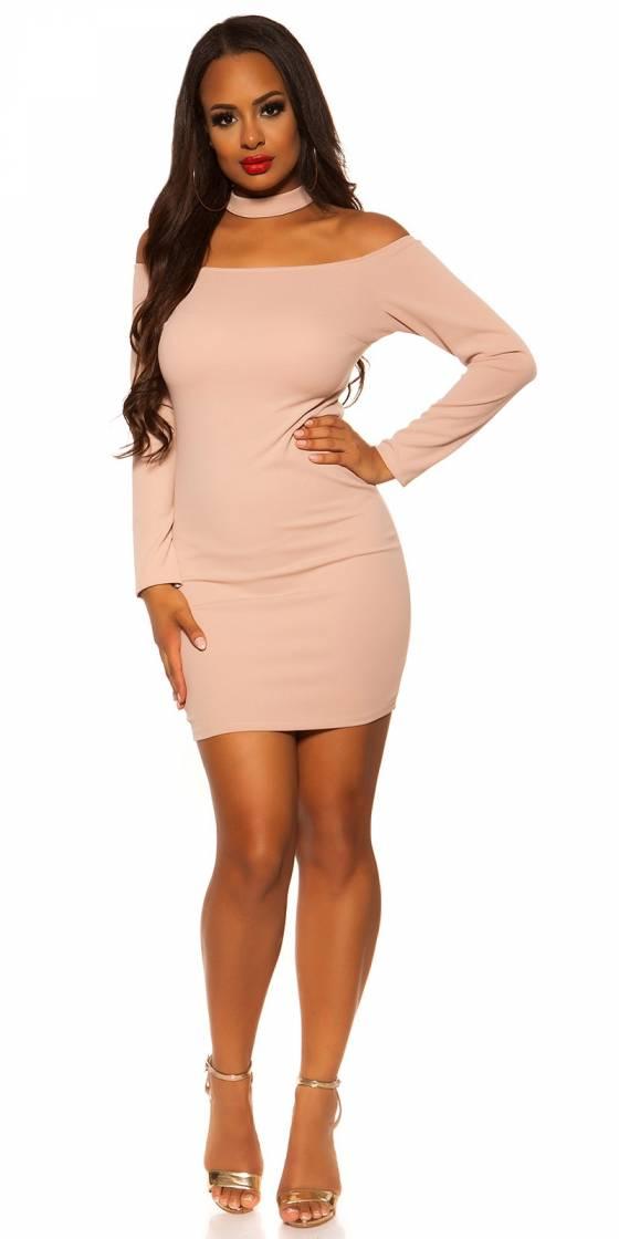 Sexy Neck-Mini Dress