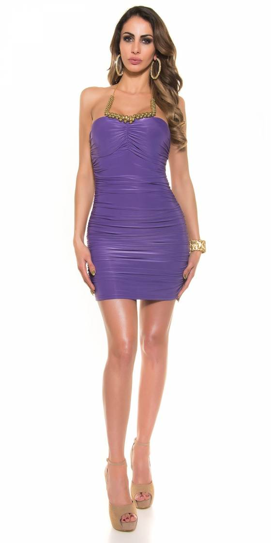 Robe-pull femme fashion ANAEL couleur violet