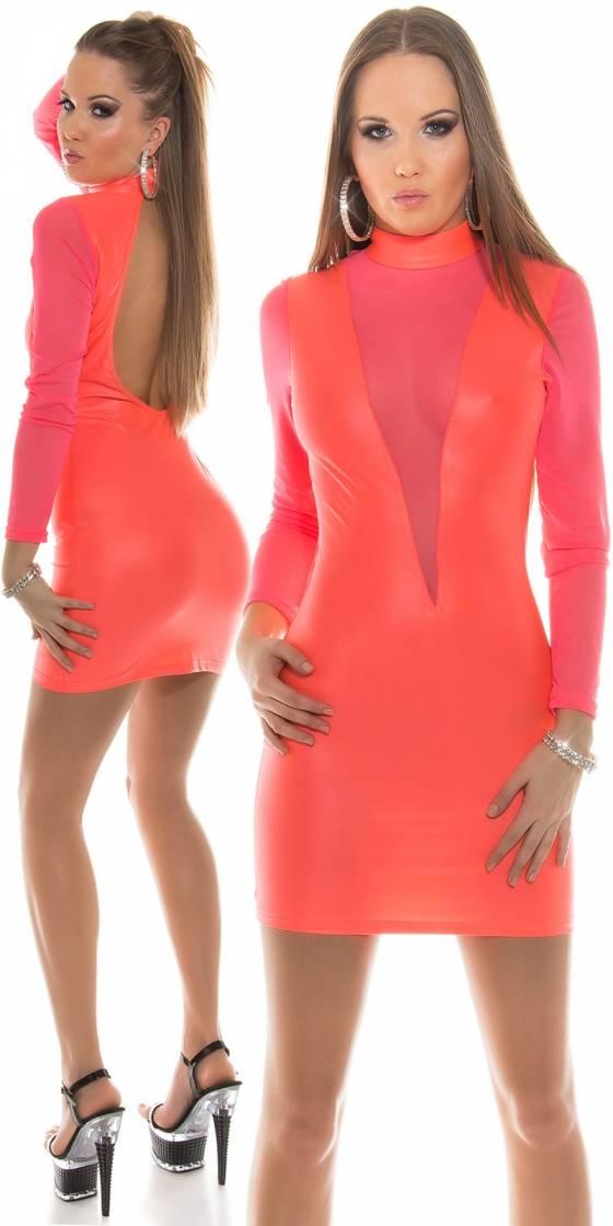 Mini robe simili cuir sexy