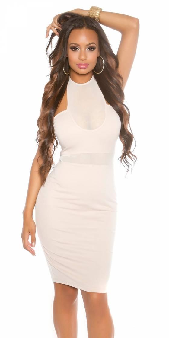 Sexy KouCla neck mini dress...