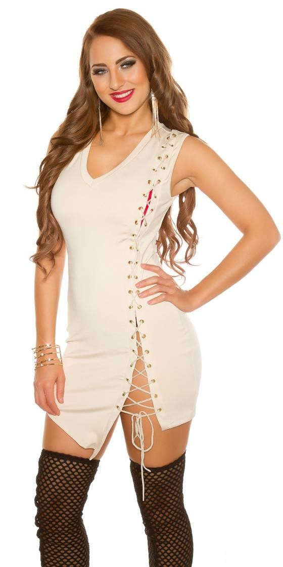 Mini robe sexy avec laçage