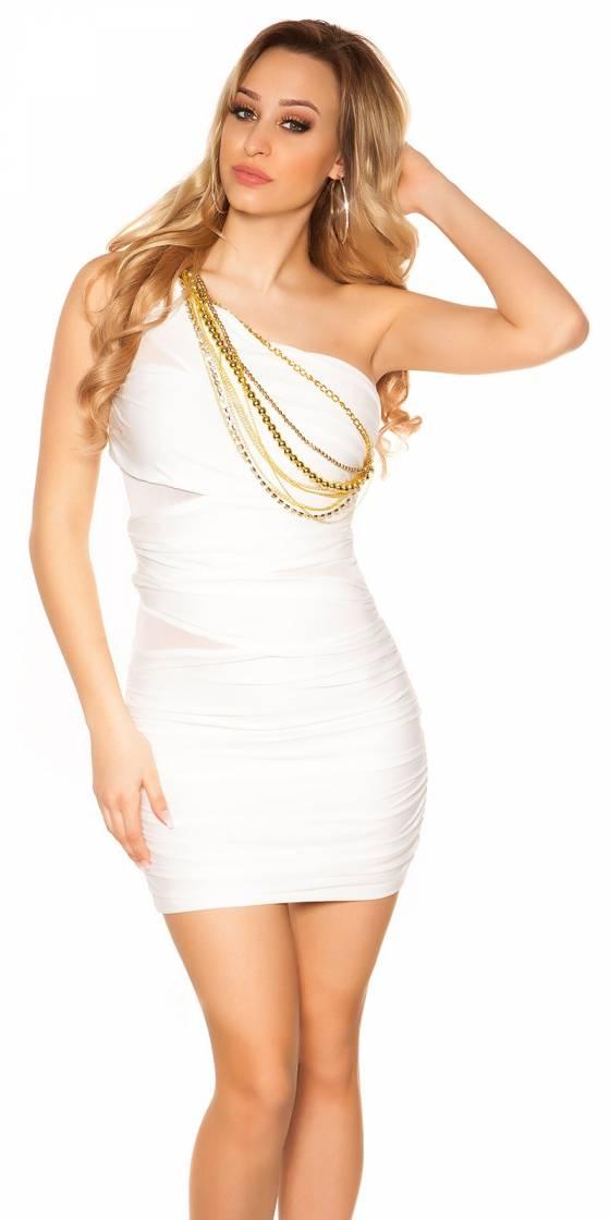 Robe femme sexy LOUNA couleur blanc