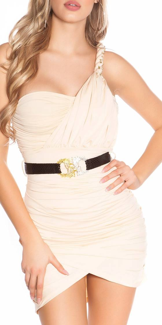Robe femme sexy LOUNA couleur or