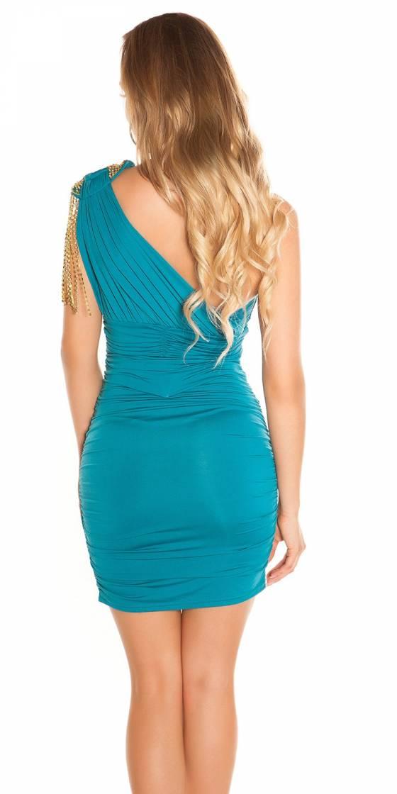 Sexy mini dress shoudler...
