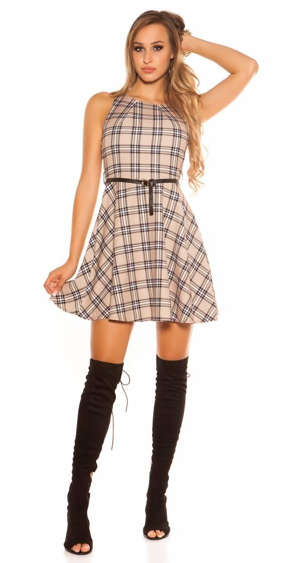 Sexy skater dress checkered...