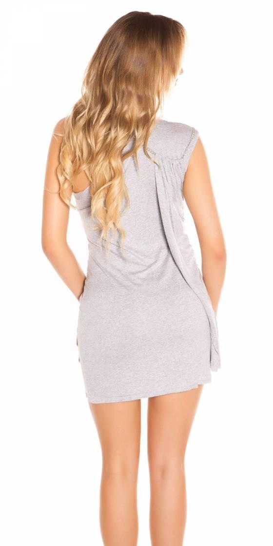 Mini robe sexy asymétrique...