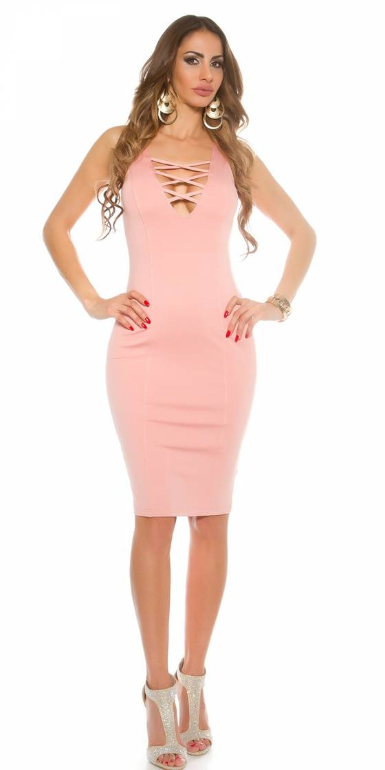 Long pull femme fashion LINA couleur rose