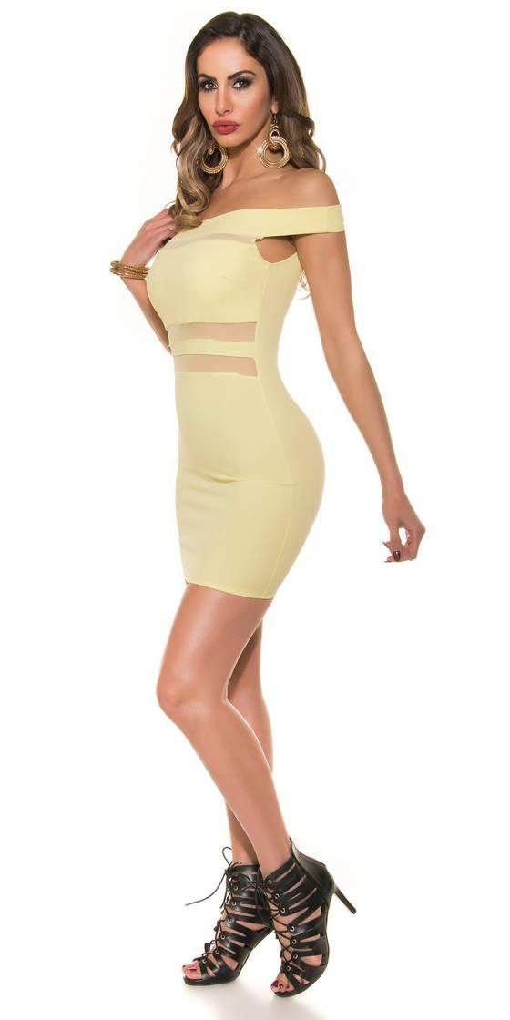 Sexy mini dress with Carmen...