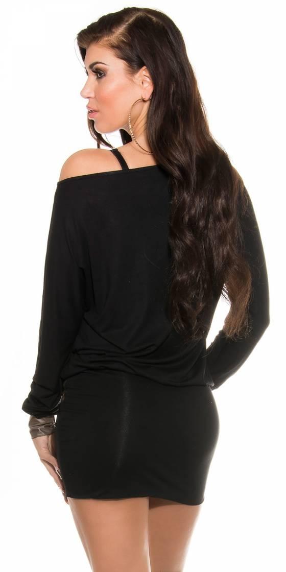 Robe tendance sexy MELINA couleur noir
