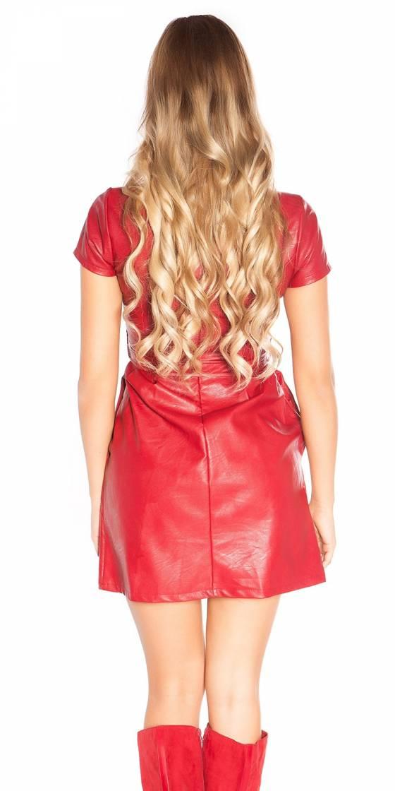 Sexy leatherlook minidress...