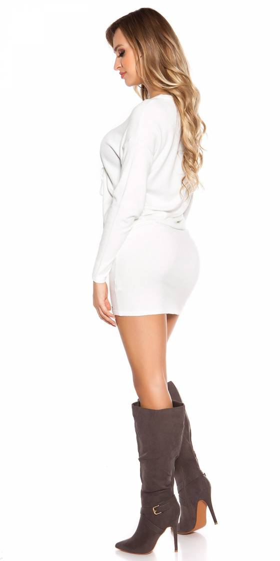 Robe femme tendance LOU couleur blanc