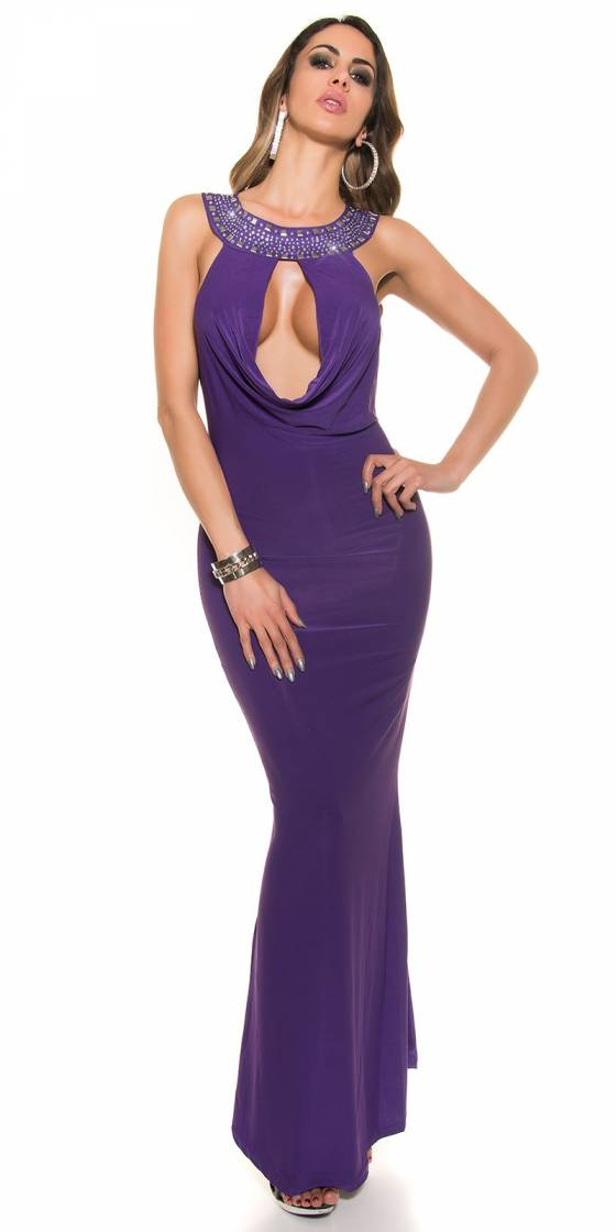Robe femme sexy LAYNA couleur violet