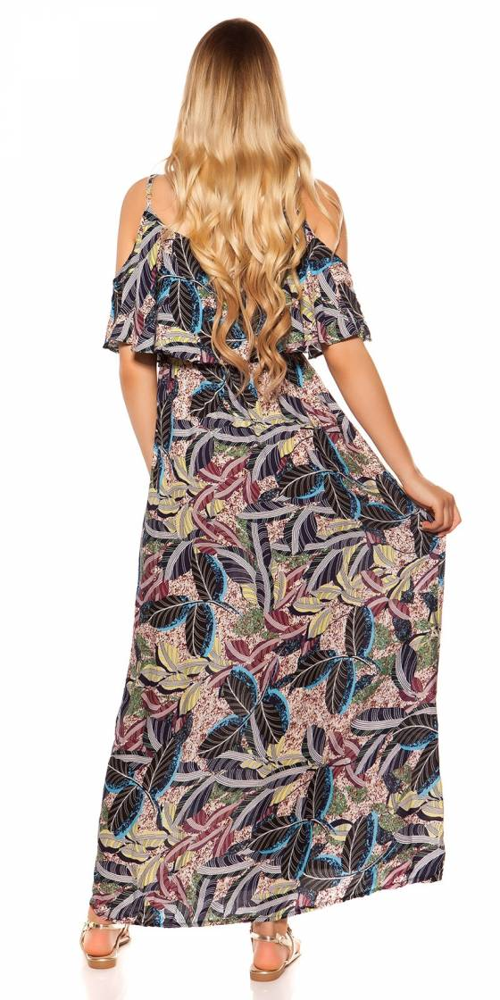 Long pull femme fashion MILA couleur saphir