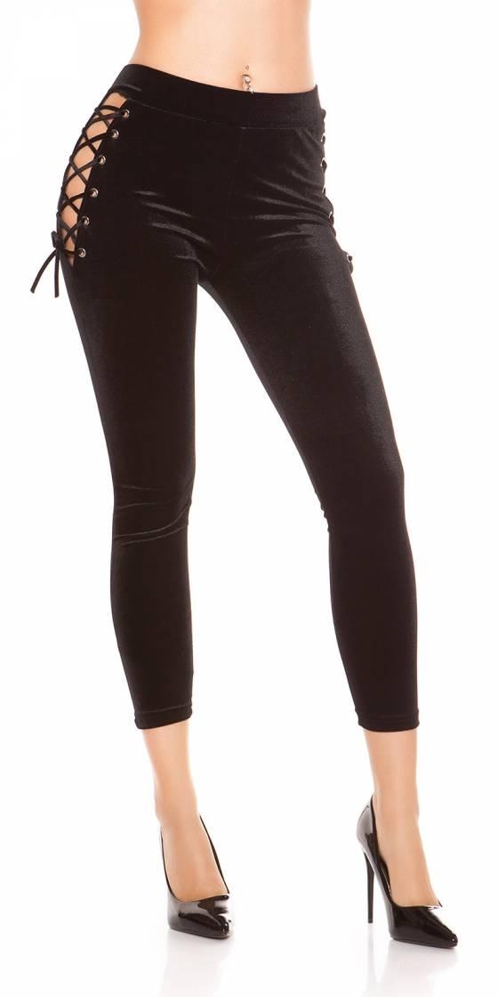 Sexy velvet look leggings...