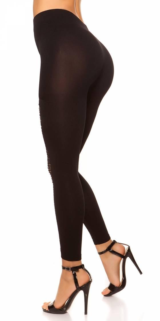 Leggings nouvelle collection ANYA couleur or/noir