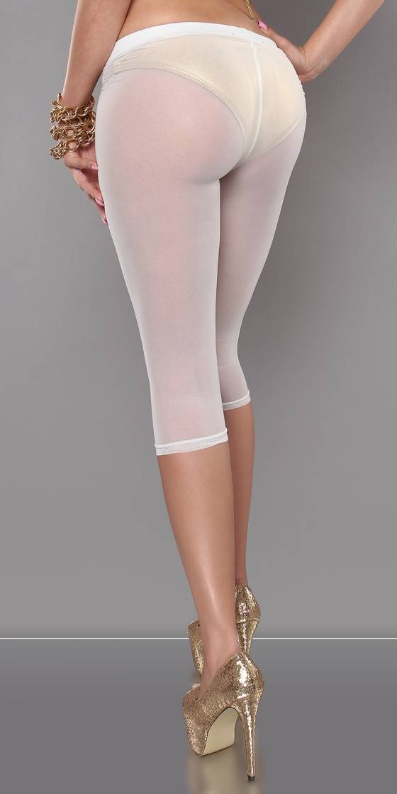 Leggings 3/4 sexy transparent