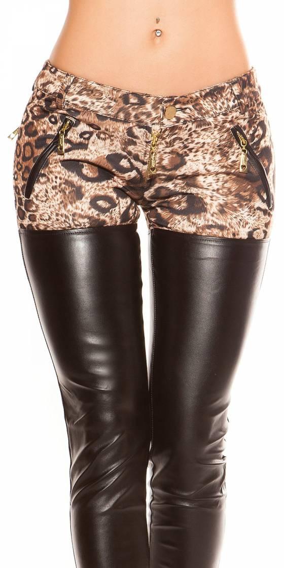 Leggings tendance sexy LAURA couleur noir