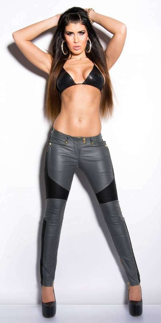Pantalon femme tendance CECILIA couleur gris