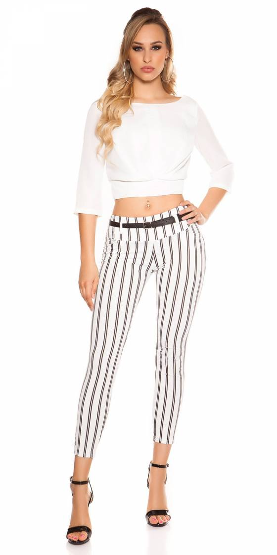 Pantalon tendance nouvelle collection ALESSIA couleur cappuccino