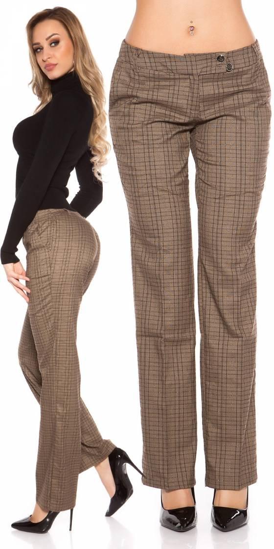 Pantalon sexy à carreaux...