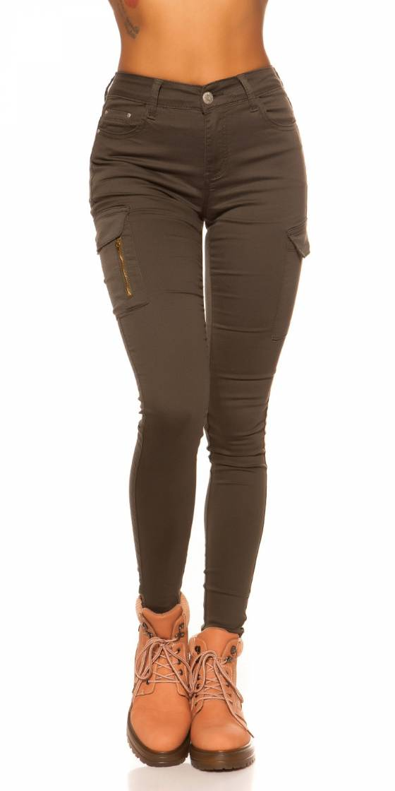 Jeans slim taille haute sexy