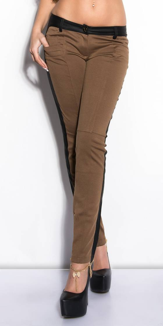 Treggings tendance sexy KIMY couleur noir/or