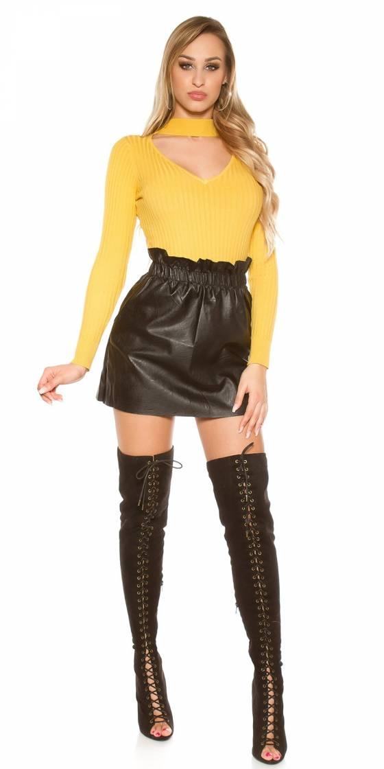 Mini jupe en similicuir sexy