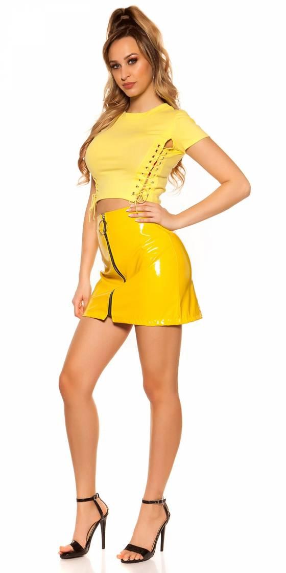Mini robe tendance sexy EMMA couleur caramel