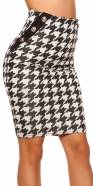 Sexy KouCla pencil skirt in houndstooth pattern