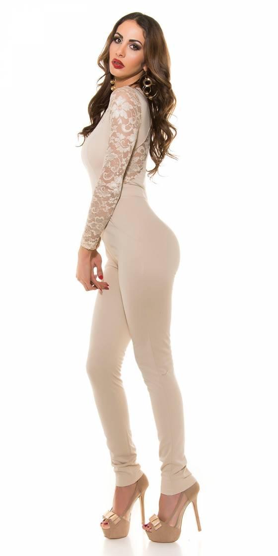 Pantacourt tendance CAMELIA avec ceinture couleur beige