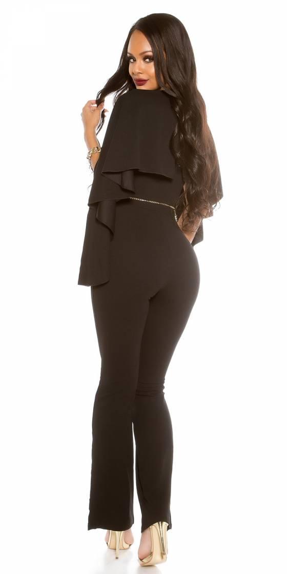 Robe longue tendance MARION couleur noir