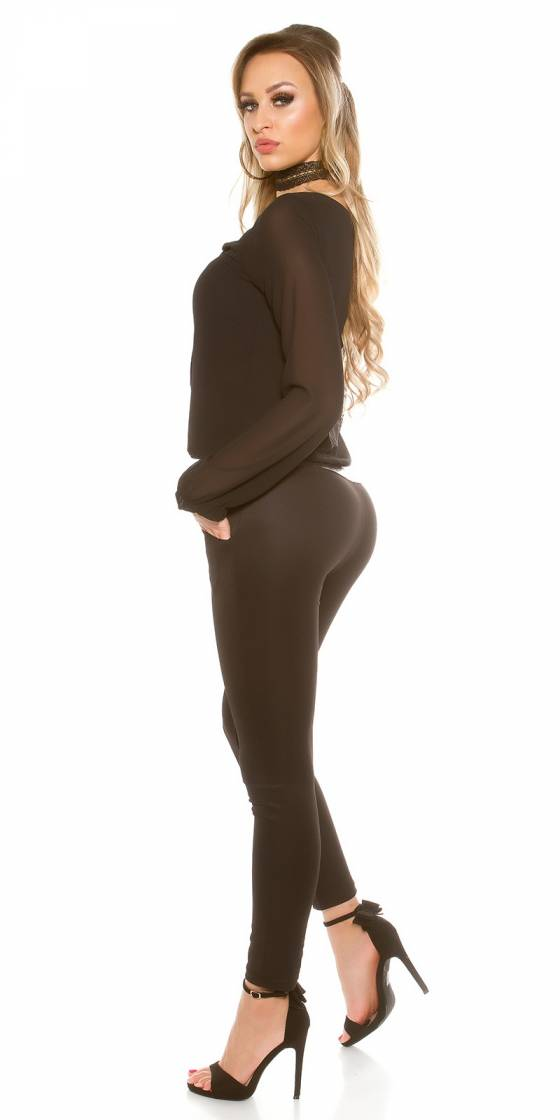 Robe fashion ARIANA avec ceinture couleur léopard/noir