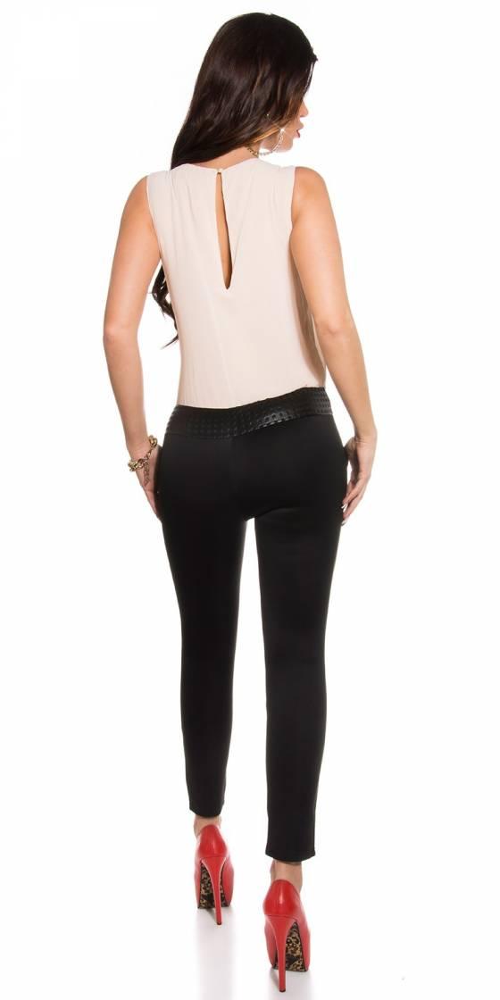 Robe fashion ARIANA avec ceinture couleur zèbre/noir