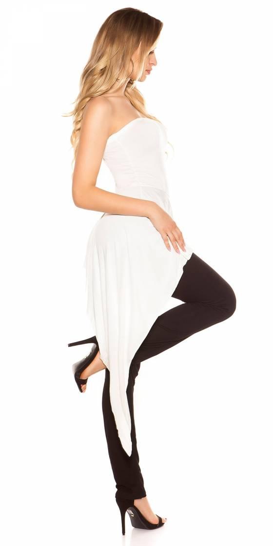 Pantacourt sportswear fashion VERONICA couleur gris/fushia
