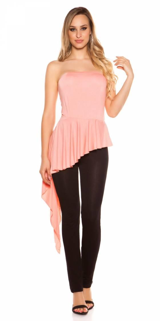Pantacourt sportswear fashion VERONICA couleur noir/fushia